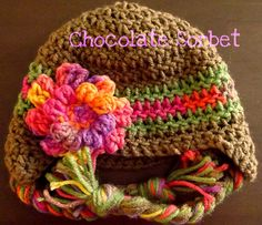 This hat works up super fast and includes sizes newborn to toddler. I seriously finished it in about an hour.