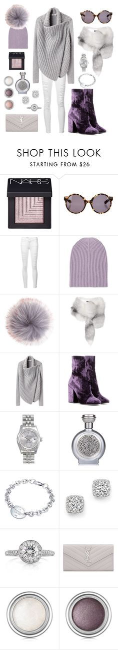 """In Love In Lavender"" by iii-i-mcmxcv ❤ liked on Polyvore featuring NARS Cosmetics, Proenza Schouler, Frame, Barneys New York, Dolce&Gabbana, Helmut Lang, Dries Van Noten, Rolex, Boadicea the Victorious and Tiffany & Co."