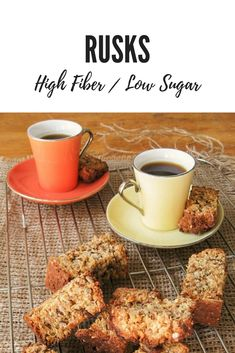 Healthy Rusks Recipe Low sugar & high fiber is part of Rusk recipe - Traditionally South African rusks are full of sugar and fat To turn them into the perfect breakfast snack I came up with a delicious healthy rusks recipe Healthy Baking, Healthy Snacks, Healthy Recipes, Healthy Eats, Rusk Recipe, Kos, Breakfast Snacks, High Fiber Foods, Perfect Breakfast