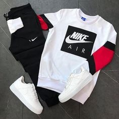 This Nike outfit is definitely number one on the list you need to check them out now. Cute Nike Outfits, Dope Outfits For Guys, Swag Outfits Men, Cute Lazy Outfits, Stylish Mens Outfits, Tomboy Outfits, Teenage Outfits, Fresh Outfits, Hype Clothing