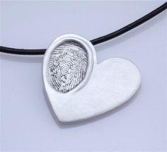 Custom Child's Fingerprint Necklace by trish.wilson.35