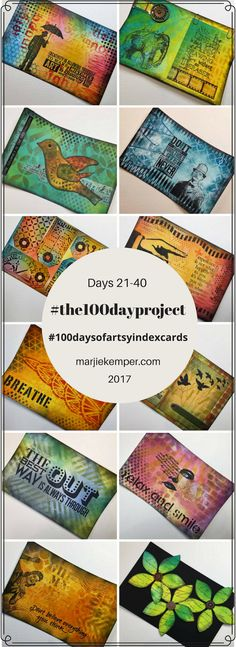 Join me for a look at Round 2 of my Artsy Index Cards for 2017. These are part of my involvement with the 100 day project for this year.