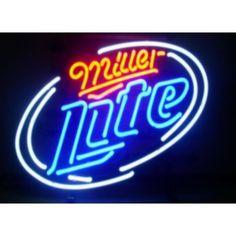 Enseigne néon Américaine MILLER LITE avec transformateur 220 V et prise Française fournie à shopper chez http://www.uswayoflife.fr/enseignes-neons-usa/438-enseigne-neon-lumineuse-miller-lite.html