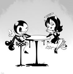 I honestly just see them as friends Halloween Wallpaper Iphone, Cartoon Wallpaper, Vintage Cartoon, Cartoon Art, Graffiti, Alice Angel, Poses References, Old Cartoons, Bendy And The Ink Machine