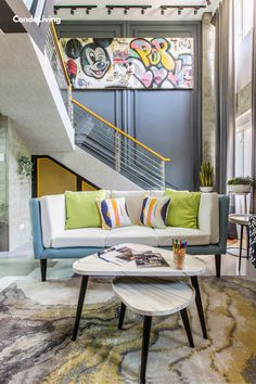 An Eclectic Loft Condo Unit is All About Making a Statement Home And Living, Something To Do, Condo, Entryway, Loft, Diy Projects, The Unit, House, Furniture