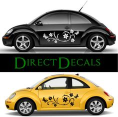X Large Tiger Flamed Car Vinyl Decal Car Van By Directdecals - Flower custom vinyl decals for car