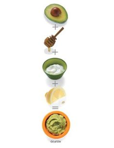 FACE: [ • 2 tablespoons mashed avocado • 1 teaspoon honey • 1 teaspoon plain yogurt   • Green tea • 1/2 teaspoon lemon juice ] > -Combine ingredients in a bowl. -Refrigerate for 30 minutes.  -Make green tea -Smear a thin layer of the chilled mask on your face for 10 or 15 minutes -Rinse with lukewarm water. -splash face with the cooled tea, then rinse with water again.