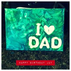 Daddy Birthday Project!  Follow our blog!
