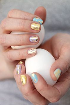 Gold Speckled Easter Egg Nailscountryliving