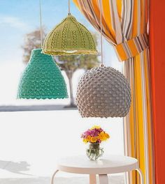 Crochet-Covered IKEA Lamps