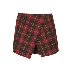 TOPSHOP Petite Asymmetric Skort (3,420 PHP) ❤ liked on Polyvore featuring skirts, mini skirts, bottoms, shorts, skorts, red, petite, red asymmetrical skirt, skort skirt and red mini skirt