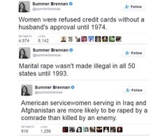 Just some reminders of womens' reality