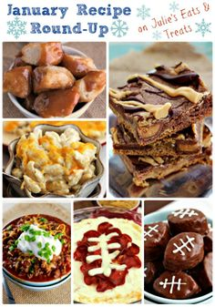 Julie's Eats & Treats January Recipe Round-Up! What Is Healthy Food, Healthy Diet Recipes, Healthy Foods To Eat, Great Recipes, Snack Recipes, Favorite Recipes, Recipe Ideas, Game Day Snacks, Tailgating Recipes