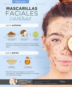 mascarillas faciales caseras poros exfoliar belleza beauty - Care - Skin care , beauty ideas and skin care tips Beauty Care, Diy Beauty, Beauty Skin, Homemade Beauty, Beauty Makeup, Eyebrow Makeup, Diy Makeup, Beauty Ideas, Facial Tips