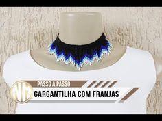 Gargantilha de Franjas - passo a passo - YouTube