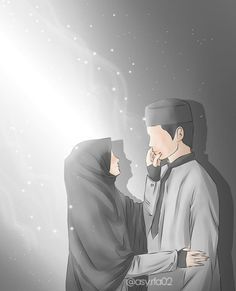 kumpulan kartun romantis parf 3 - my ely Love Cartoon Couple, Cute Love Cartoons, Cute Couple Art, Anime Love Couple, Cute Muslim Couples, Muslim Girls, Cute Couples, Anime Couples, Muslim Brides