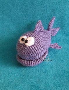 Mr. Fish crocheted amigurumi PDF pattern by jasminetoys on Etsy