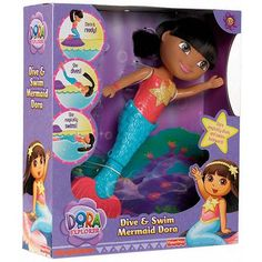 Dora the Explorer Dive and Swim Mermaid Doll