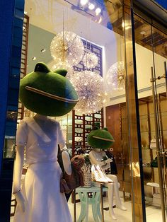 "KATE SPADE, Madison Ave, New York, ""More fun than a frog in a glass of milk"", pinned by Ton van der Veer"