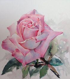 Акварельные розы тайского художника ЛаФе-13