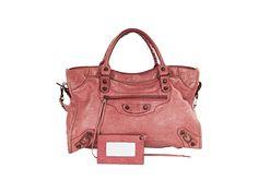Pink Balenciaga Classic City Leather Bag