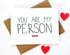 Je t'aime Card - tu es ma personne