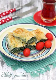 Malzemeler:20 tane baklava yufkasi500 g. ispanak200 g. beyaz peynir1 yumurta (sarisi ve beyazi ayrilmis)Yufkalari yaglamak icin sivi yagYapilisi:Dogradiginiz ispanaklari suyunu salana kadar kisik …