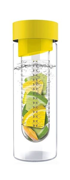 Fruit Infuser Water Bottle--great for adding lemon, lime, mint, or berries for natural, flavored water.