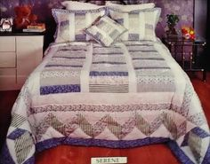 Handcrafted Quality Patchwork Q & K Bedspread Sets and matching Curtains #AmericanTreasures #VictorianStyle