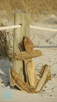 Natural Driftwood Anchor Decor Nautical Beach Chic by DriftedHands