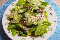 Grandma's Salad Dressing door ch. Sambal Oelek, Tzatziki, Vinaigrette, Lettuce, Potato Salad, Spinach, Avocado, Yummy Food, Stuffed Peppers