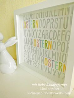 stampin up ribba rahmen osterdeko (2) Ikea, Stamping Up, Crafty, Mugs, Typo, Diy Home Decor, Pastel Colors, Diy Presents, Picture Frames