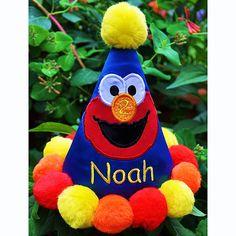 Boy's Elmo Personalized Birthday Hat