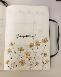 Want to add some cute little flower doodles to your bullet journal and need some ideas to get started? Check out these awesome step by step guides for inspiration! Bullet Journal School, Bullet Journal Tracker, Bullet Journal Headers, Bullet Journal Banner, Bullet Journal Cover Page, Bullet Journal Aesthetic, Bullet Journal Notebook, Bullet Journal Ideas Pages, Bullet Journal Spread