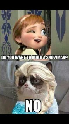 Grumpy cat & frozen. Disney. @Carissa from {Carissa Miss} Wood @Destini Williams Tatum just because y'all love grumpy cat