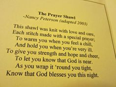 Image result for crochet prayer cloth poem card
