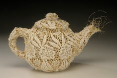 Donna Rhae Marder's Lace and Wire Teapots