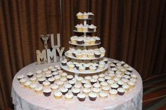 Cupcake display for wedding