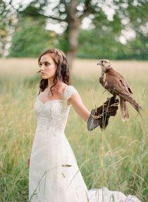Bride with raptor