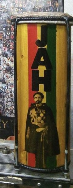 Haile Selassie I Jah Rastafari Nyabinghi Drum by RastaCultureShop, $249.99