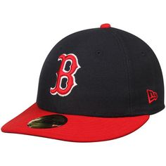 Boston Red Sox New Era 2T Patched Low Profile 59FIFTY Fitted Hat - Navy