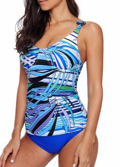 47e019a3cd214 Open Back Printed Tankini Top and Panty | modlily.com - USD $27.99 Swim  Dress