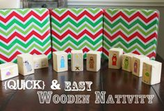 Huckleberry Love: Friday Features {No. 39}- Quick and Easy Wooden Nativity via A Little of This, A Little of That