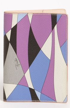 Emilio Pucci Passport Cover available at Nordstrom    LOVE!!!  We should get matching!