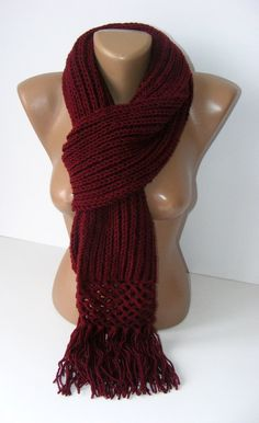 15 OFF SALE maroon scarf2012 knitting trendsfor hergift by seno, $25.00