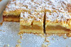 Składniki:    1 kg jabłek  200 g masła  350 g mąki  szklanka cukru ( ja dałam pół szklanki )  3 żółtka  2 łyżki cynamonu  szczypta so...