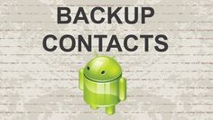 Backup contacts Android - 2015 #video #androidapps #youtube #apk #apps #app #android #mobile #google #smartphone #technews
