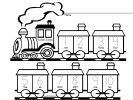 Numbers Worksheets for Preschool and Kindergarten - Train Theme