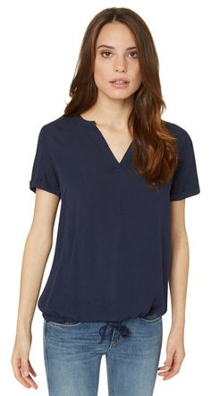 - casual dobby structured blouse van TOM TAILOR