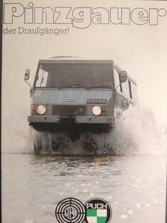 FINN – Steyr Puch Haflinger og Pinzgauer 3 brosjyrer Mercedes G Wagen, Mercedes Gl, Jeep 4x4, Jeep Truck, Bus Engine, Vw T3 Syncro, Fiat Panda, Steyr, Expedition Vehicle